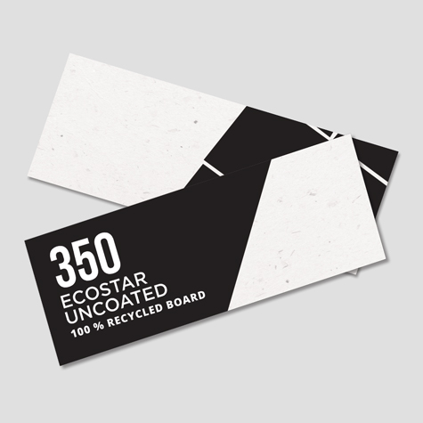 350 Ecostar Uncoated 100% Recycled Board