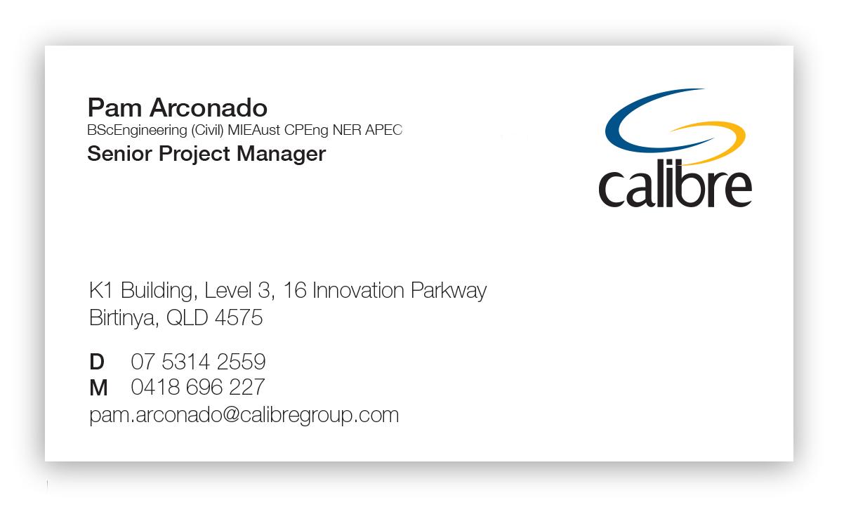 Calibre Slim Business Cards